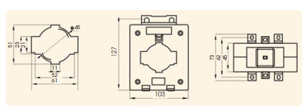 ct,current transformer,ct แบบร้อยสาย,อุปกรณ์ตรวจกระแส,split core,split core แกนแยก