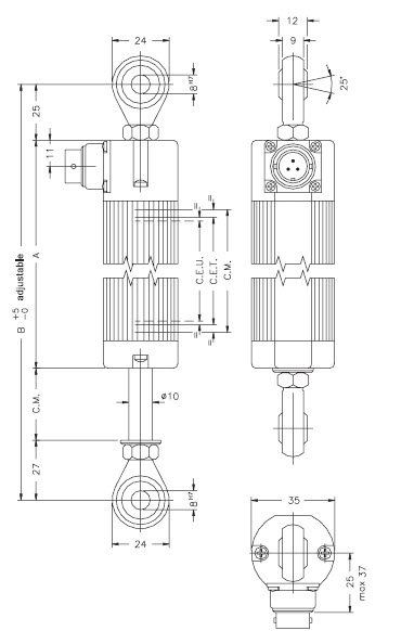 linear scale,displacement transducer,transducer,rectilinear transducer