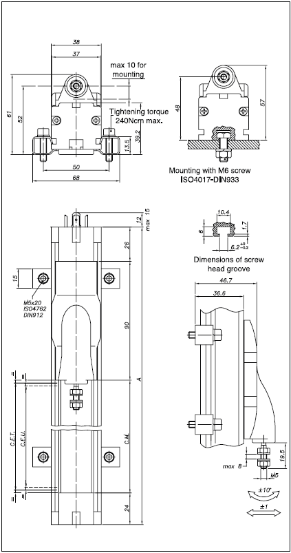 rodless rectilinear displacement transducer