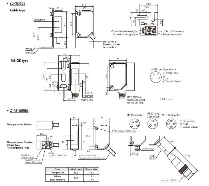 photoelectric sensor  u0e23 u0e30 u0e22 u0e30 u0e17 u0e32 u0e07 u0e44 u0e01 u0e25 thru